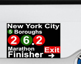 2017 any year NYC New York City Marathon Finisher Magnet Decal Car