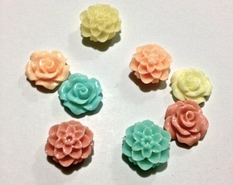 Mini Pastel Flower Magnets