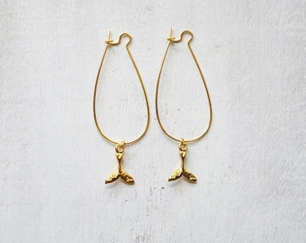 SALE! Mermaid Gold Fin Earrings