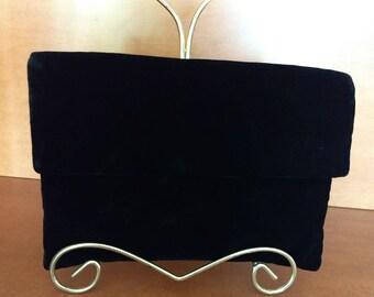 Glam Black Velvet Bobbie Jerome 50-60's Clutch