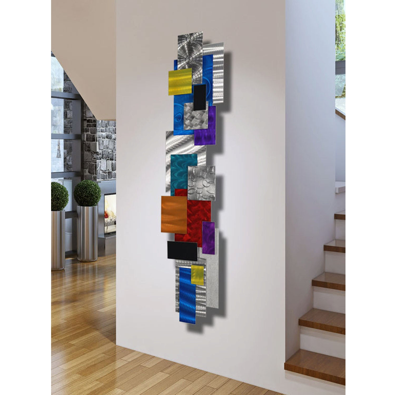 Large Contemporary Geometric Metal Wall Decor Multi Color