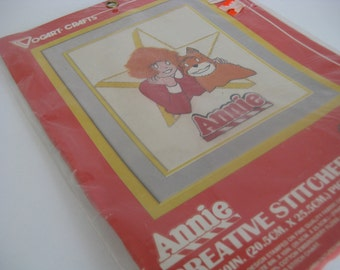 vintage ANNIE crewel stitch kit, copyright 1982, new and unopened
