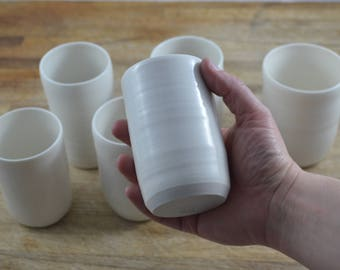 Procelain Drinking Cup - READY TO SHIP