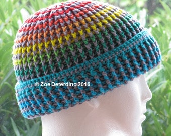 Instant Download Crochet Pattern, English Clouds Hat