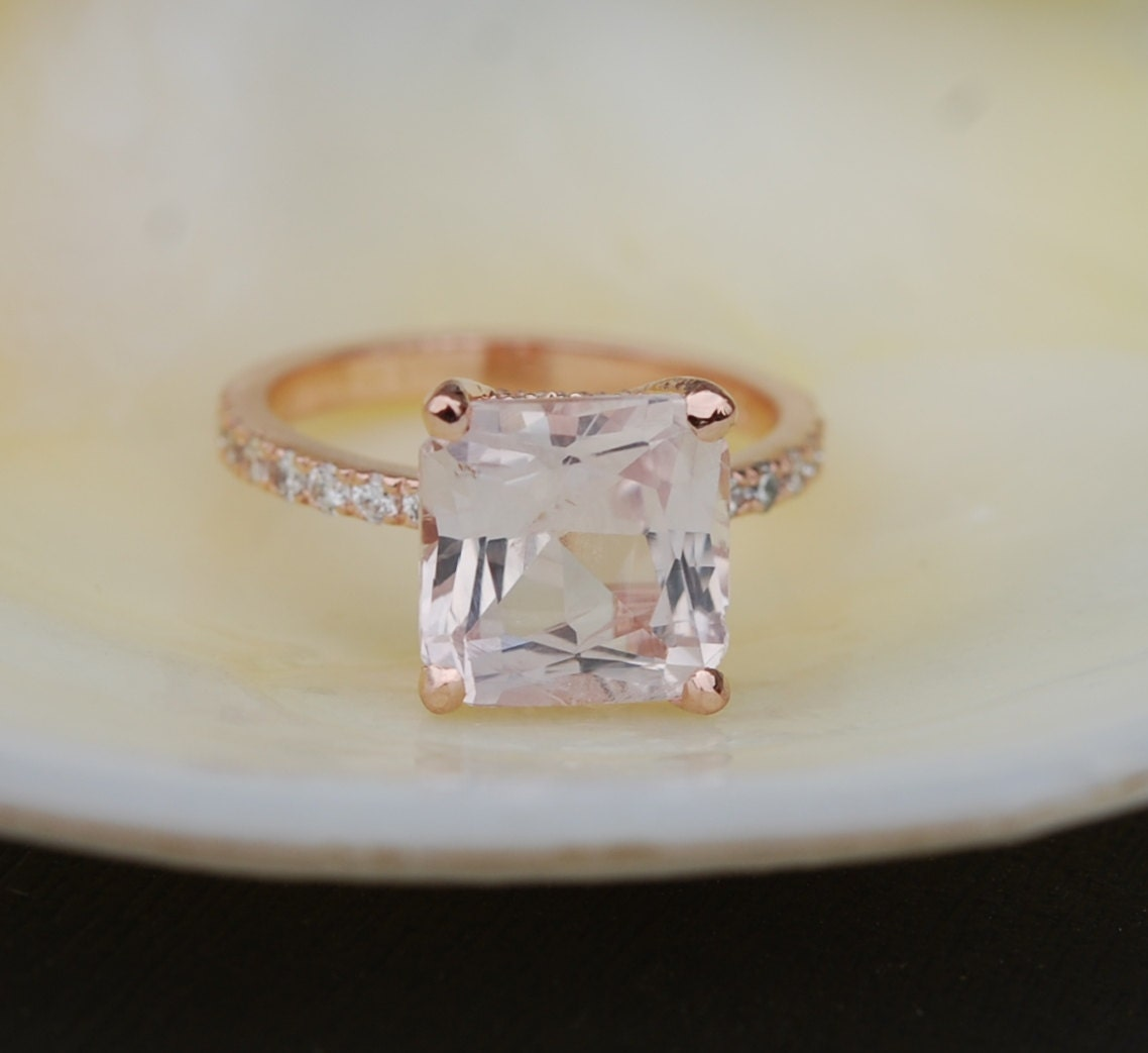 square luxury peg engagement puregemsjewels setting ring cut princess rings prong of solitaire v