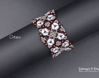 IrisDuo Beading Pattern - Bracelet Beading Pattern - Déco Bracelet TUTORIAL - Digital File