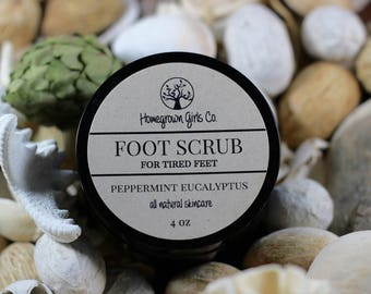 FOOT SCRUB, peppermint eucalyptus, foot soak