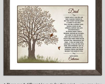Gift For Dad - Father Gift - Father Daughter Gift Christmas - Dad Gift Dad Poem - Father Daughter Art - Dad Gift From Daughter Thank You