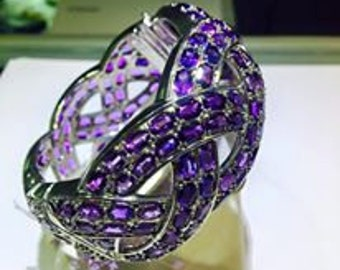 Exquisite and morganite Amethyst Bangle