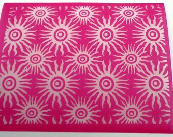 Beadcomber Silk Screen - Sea Urchin Silkscreen for Polymer clay, Paper Crafts, painted patterns on smooth surfaces and DIY