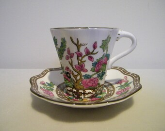 Vintage Coalport The Indian Tree Demitasse Cup and Saucer