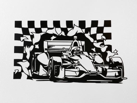 Indy Car Racing Metal Wall Art