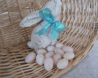 Vintage Plastic Speckles Eggs Natural SSCO Vintage Eggs Easter Spring Craft Supply Package Of 12