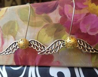 Harry Potter inspired Golden Snitch Earrings