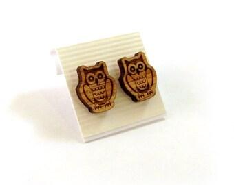 Wooden Post Earrings