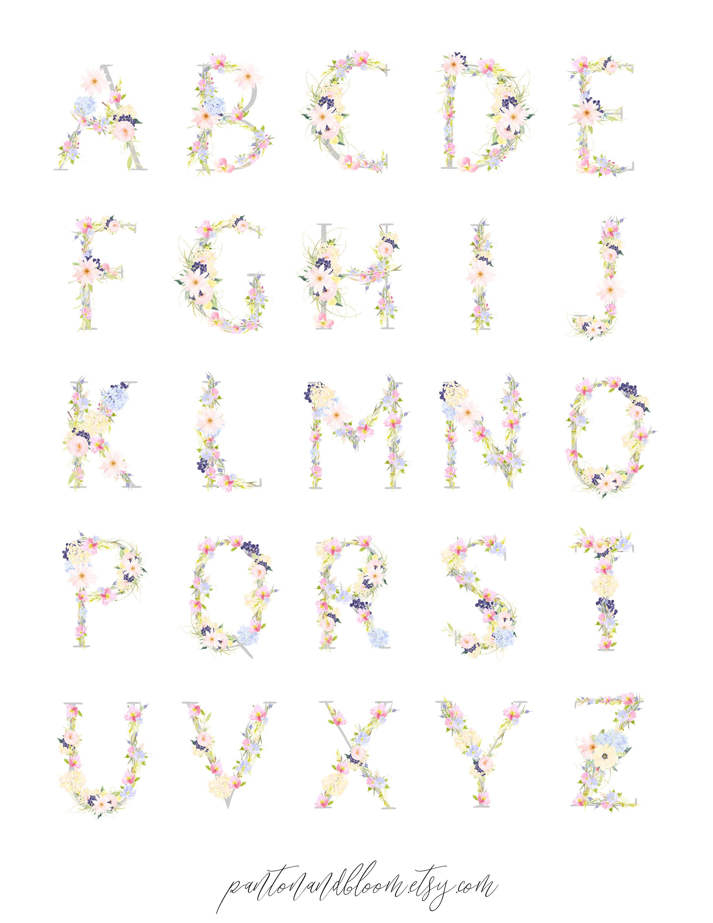 Printable Planner Stickers Alphabet Letters Printable Stickers