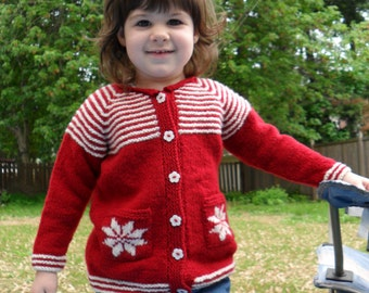 Hot Apple Cider - Knitting Pattern for Child's Cardigan