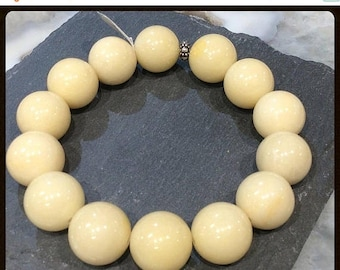 50% Mega Sale Yellow Jade Gemstone Bracelet