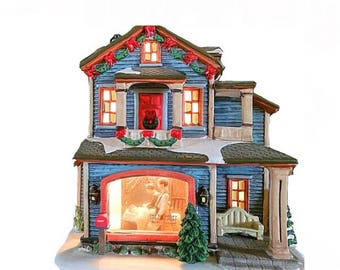 Norman Rockwell Village, The Saturday Evening Post, Night Before Christmas, Norman Rockwell Christmas, Christmas Village, Victorian House