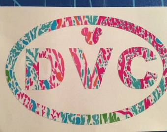 Disney Vacation Club decal (Lilly Print)