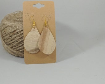 Handmade Leather Earrings - Small - Repurposed Materials