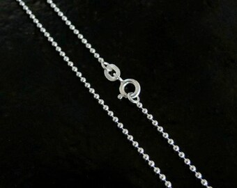 30 Inch - Sterling Silver 1.5mm Ball Chain Necklace