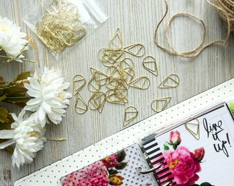 Gold Paper Clips - 25 PCS, Planner Decorations, Office Supplies, Cute Paper Clips, Planner Paper Clips, Paper Clips, Paper Clip