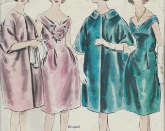 """Vintage 1960's Sewing Pattern Vogue Paris Original  Lanvin  One piece Dress & Coat B 34"""""""