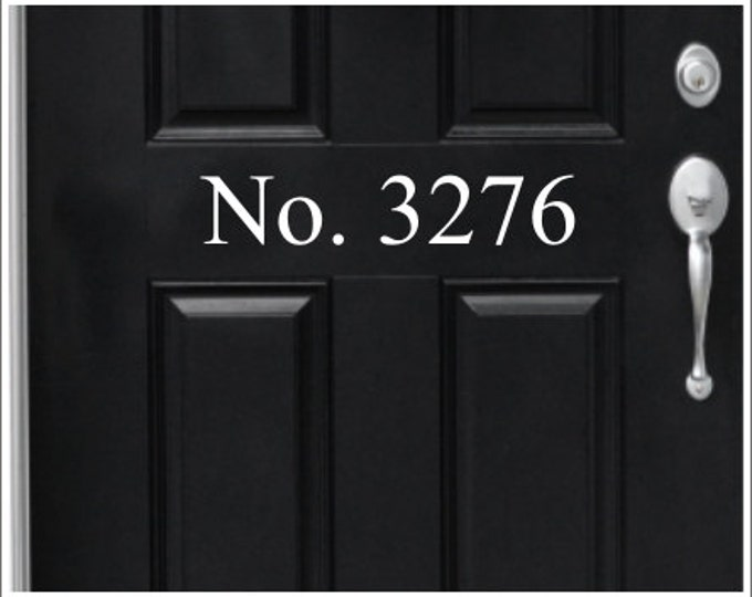 House Number Door Decal Vinyl Decal House Numbers Home Decor Porch Curb Appeal Address Decal Home Address Door Decal House Numbers Vinyl