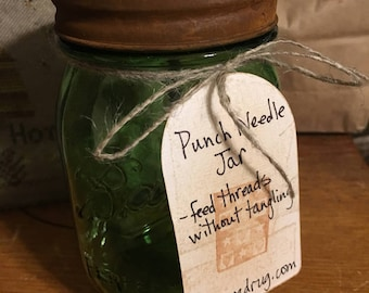 Punch Needle Thread Jar
