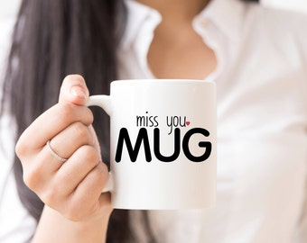 Long Distance Relationship Gift Miss You Mug Missing You I Miss You LDR Gift for Boyfriend Gift for Girlfriend Valentines Day Gift for Her