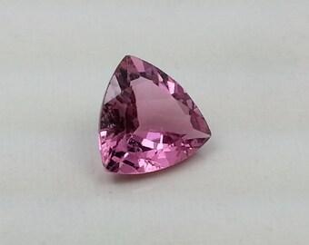 Natural Loose Pink Tourmaline, Cut Gemstone Pink Tourmaline, Faceted Tourmaline Gemstone Triangle Cut 0.97 Cts