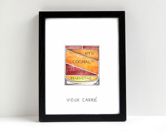 Vieux Carre Cocktail Art Print