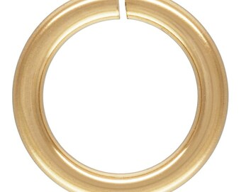 Jump Ring C&L 19.5ga (0.89x6.0mm), 14k gold filled. Made in USA. #4004510