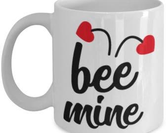 Bee Mine Heart Ceramic Coffee Mug