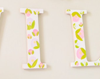 HAND-PAINTED CUSTOM wooden letters