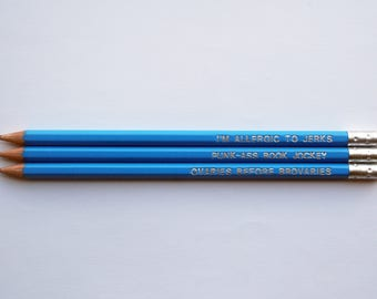 Parks and Recreation-Inspired Quote Pencil Set - Quote Pencils - Pop-culture - Gift - Screen Play
