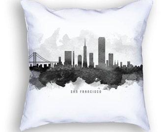 San Francisco California Pillow, San Francisco Skyline, San Francisco Cityscape, 18x18, Cushion, Home Decor, Gift Idea, Pillow Case 11