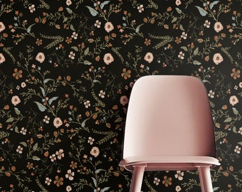 Delicate flower Wallpaper, Removable Wallpaper, Self-adhesive Wallpaper, Floral Wall Decor, Tropical Wallcovering - JW_113