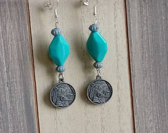 Indian coin earrings