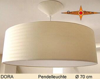 Large pendant lamp DORA Ø70 cm with diffuser stripes