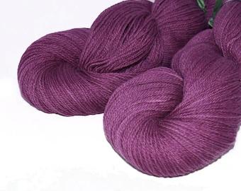 Yarnhill Superwash Fingerling Grape Yarn - 100 grams