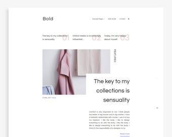 Bold • Minimalist Blogger Template • Fashion Blog Theme