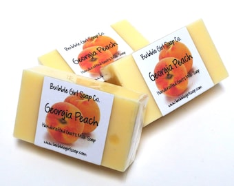 Georgia Peach Mini GUEST BAR Goat's Milk Soap Handmade SLS Detergent Free
