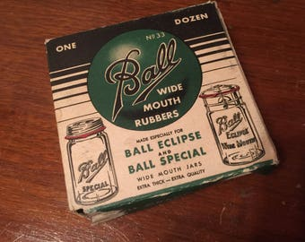 Ball wide mouth rubbers/ seals - green box