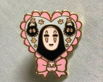 Spirited Away Enamel Pin (No Face and Soot Sprites)
