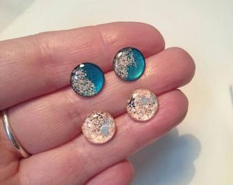 Floral Post Earrings, Surgical Steel Post Earrings