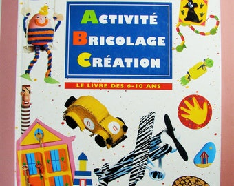 """Activities for children book """"Activity craft Creation"""" book of 6-10 years. ABC fish. 1998."""