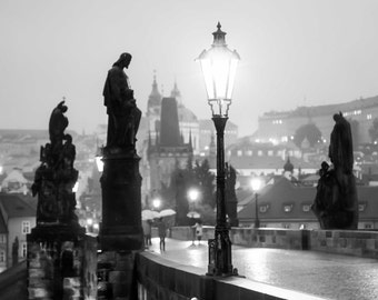 "Prague Photography, Prague Print, Charles Bridge, ""Dawn"""