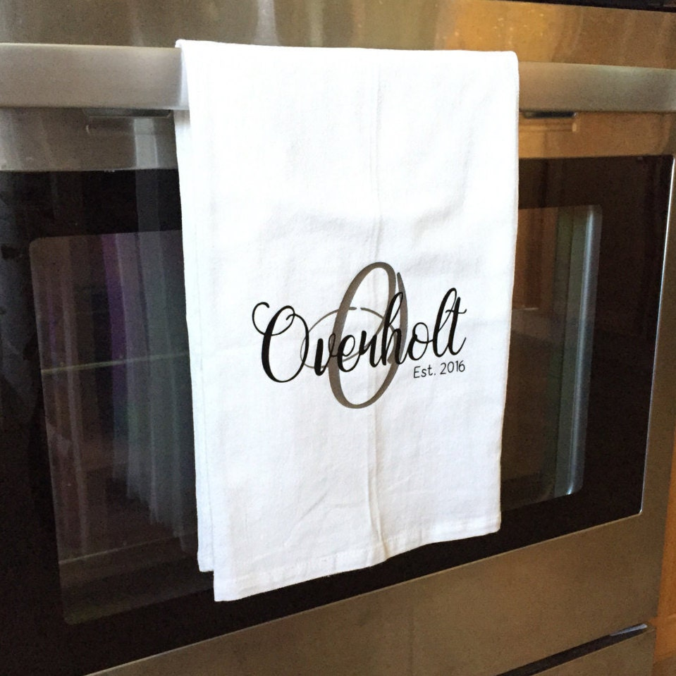 Tea Towels Unique: Personalized Kitchen Towel Personalized Tea Towel Name Tea